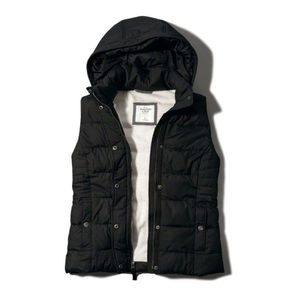 Abercrombie & Fitch Hooded Cozy Puffer Down Vest M